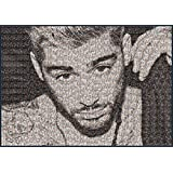 Zayn Malik Pillow Talk A1 Large Mosaic Poster (made of tiny Zayn photos) by Fotojig