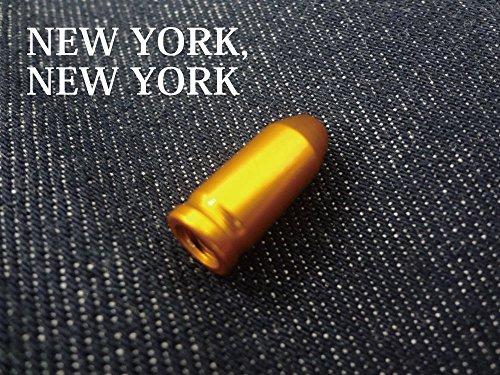 【NEW YORK,NEW YORK】カメレオンバルブキャップ/ゴールド[カラータイヤ][700C][シングルスピード][ピストバイク][ピスト][ツーリング][自転車][フリーギア][PIST]