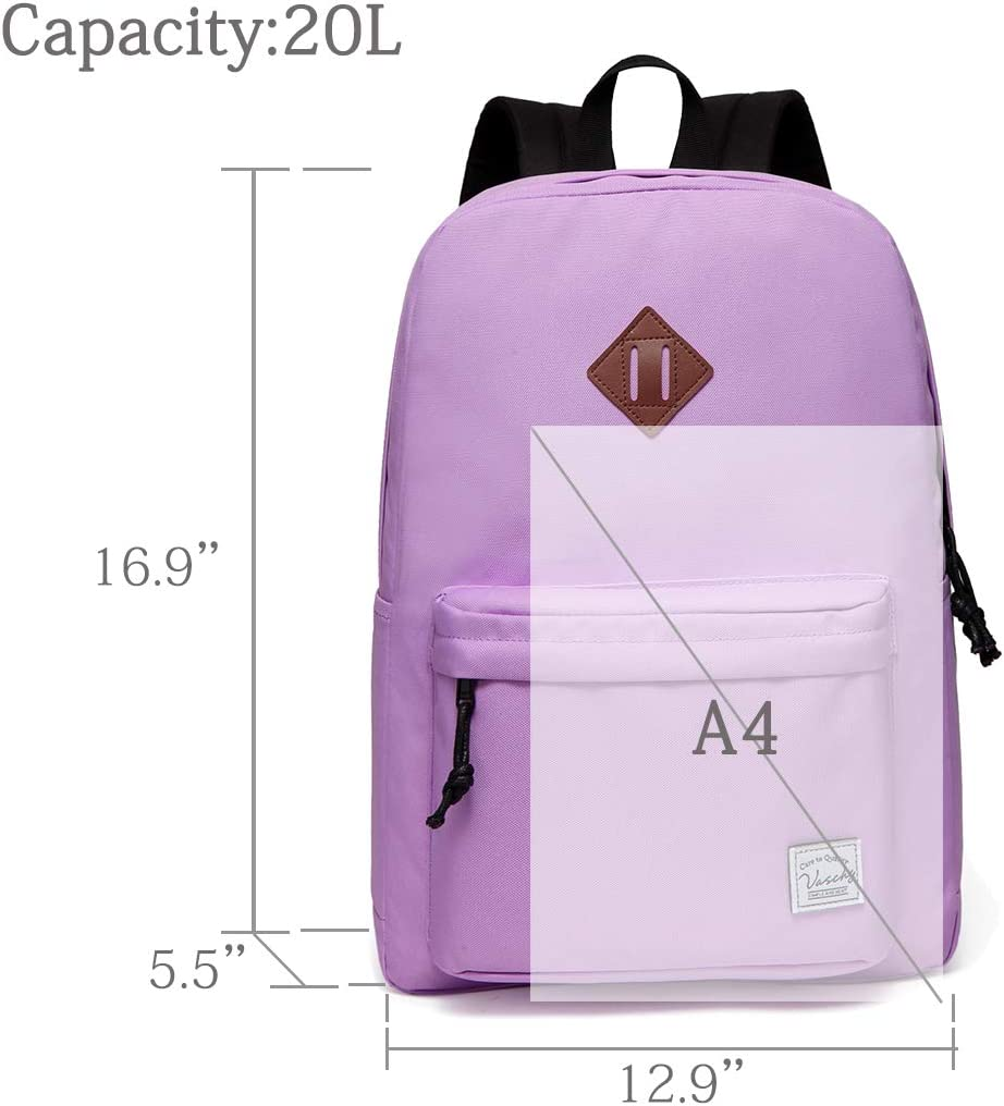 VASCHY Lightweight Backpack for Women,20 Liters Waterproof Fold-able Travel Daypack for Sports Hiking