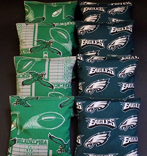 VINTAGE PHILADELPHIA EAGLES CORNHOLE BEAN BAGS 8 ACA Reg bags by BackYardGamesUSA