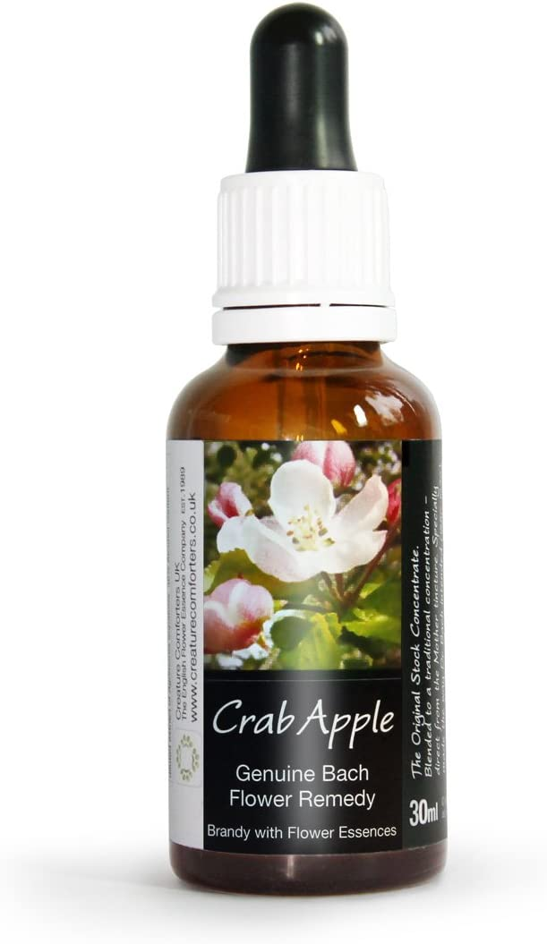 Crab Apple Bach Flower Remedy Large 30ml. Genuine Traditionally Made Essence
