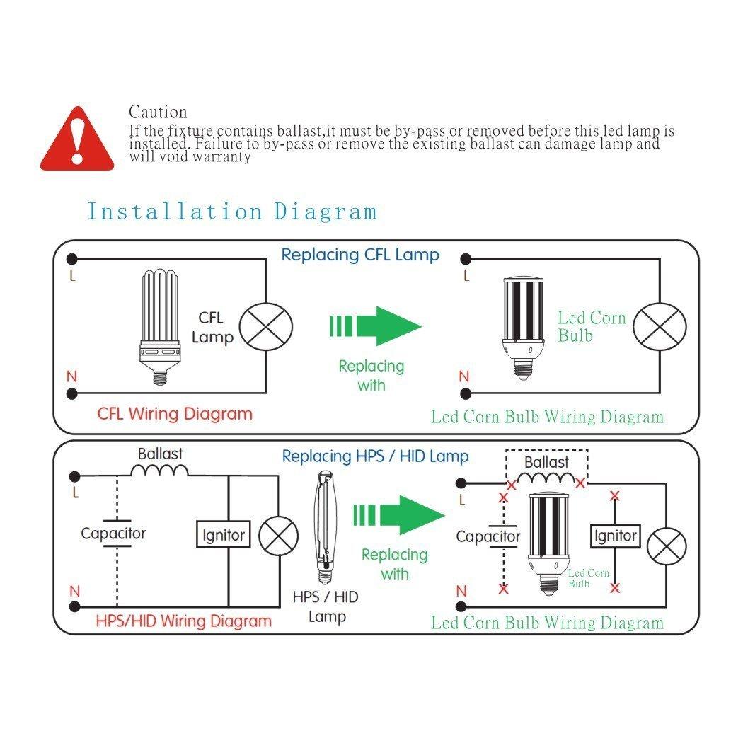50 Watt Hp S Hid Light Wiring Diagram Library Cfl Alitronics 40w Led Wall Pack Retrofit Shoebox Super Bright 5800lumens