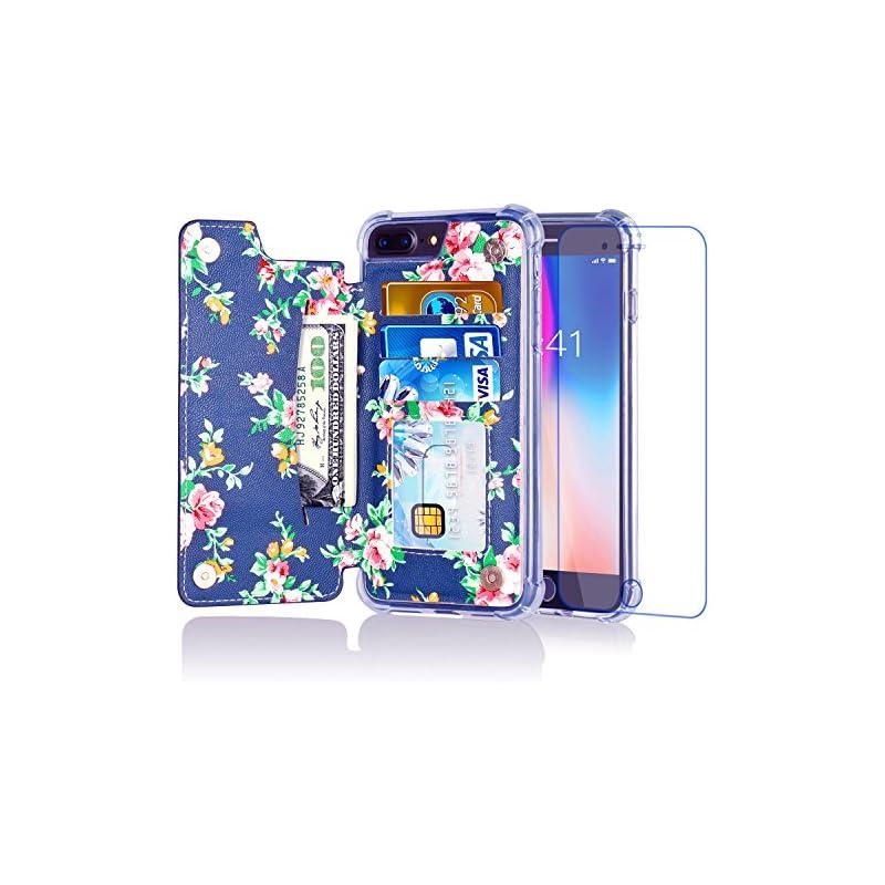 iPhone 8 Plus Wallet Case,iPhone 7 Plus