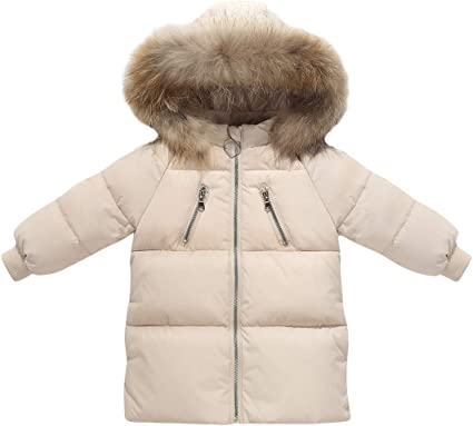 Toddler Kids Girl 3-8 Years Winter Padded Faux Fur Hooded Coat Warm Jacket Outerwear Outfit