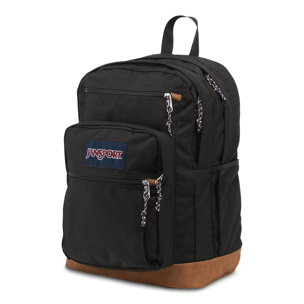 JanSport Mens Classic Mainstream Cool Student Backpack - Black / 17.7H X 12.8W X 5.5D by JanSport (Image #2)