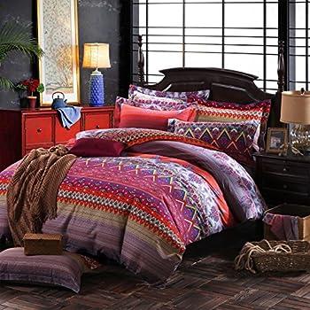Amazon Com Lelva Colorful Bohemian Ethnic Style Bedding