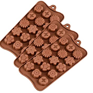 Hyutyr - Molde de silicona para hornear chocolate, 15 moldes de silicona en forma de