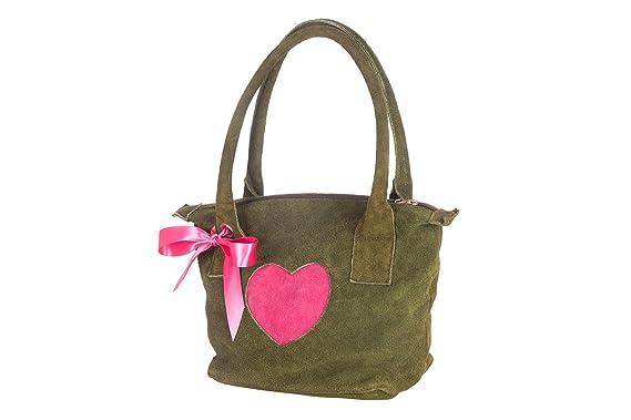 Trachten Handtasche Rb Herz L Pink Rot Altrosa Sand Amazon