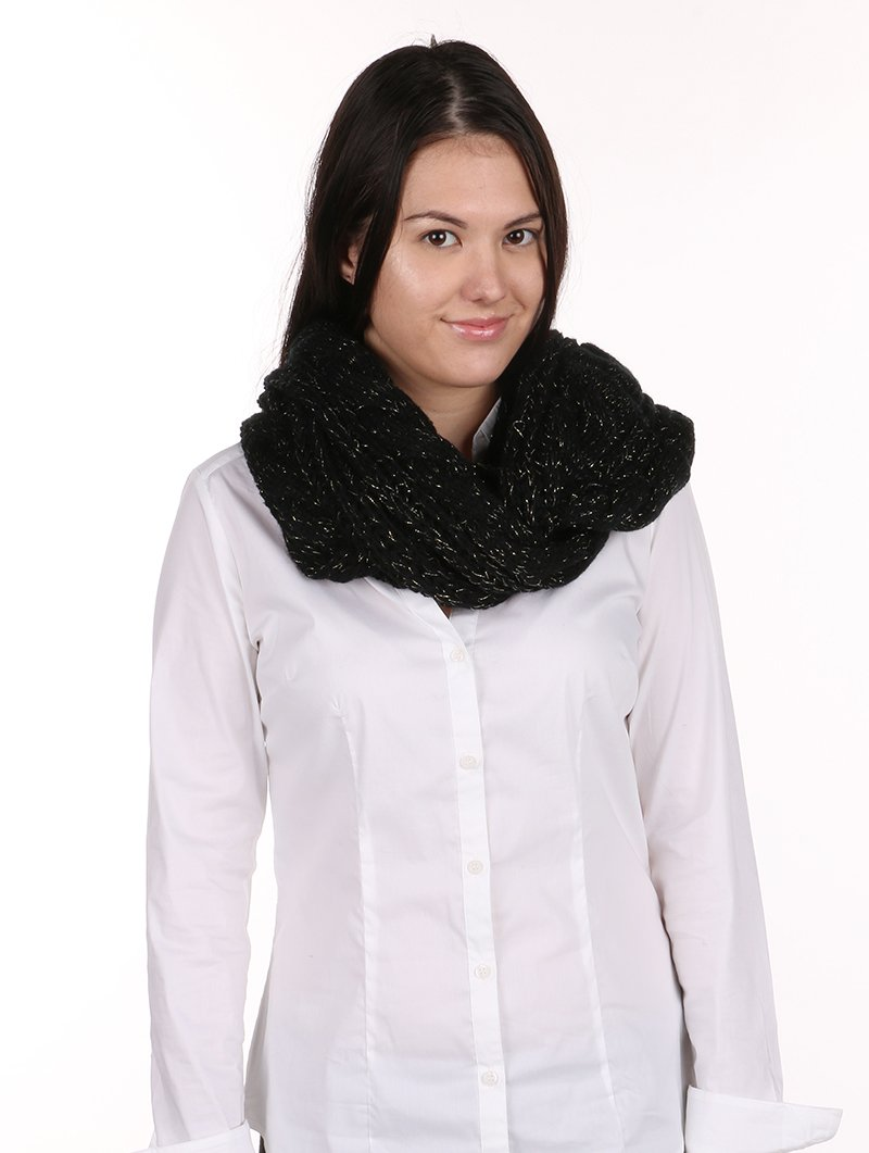 RI001 CABLE KNIT INIFINITY SCARF