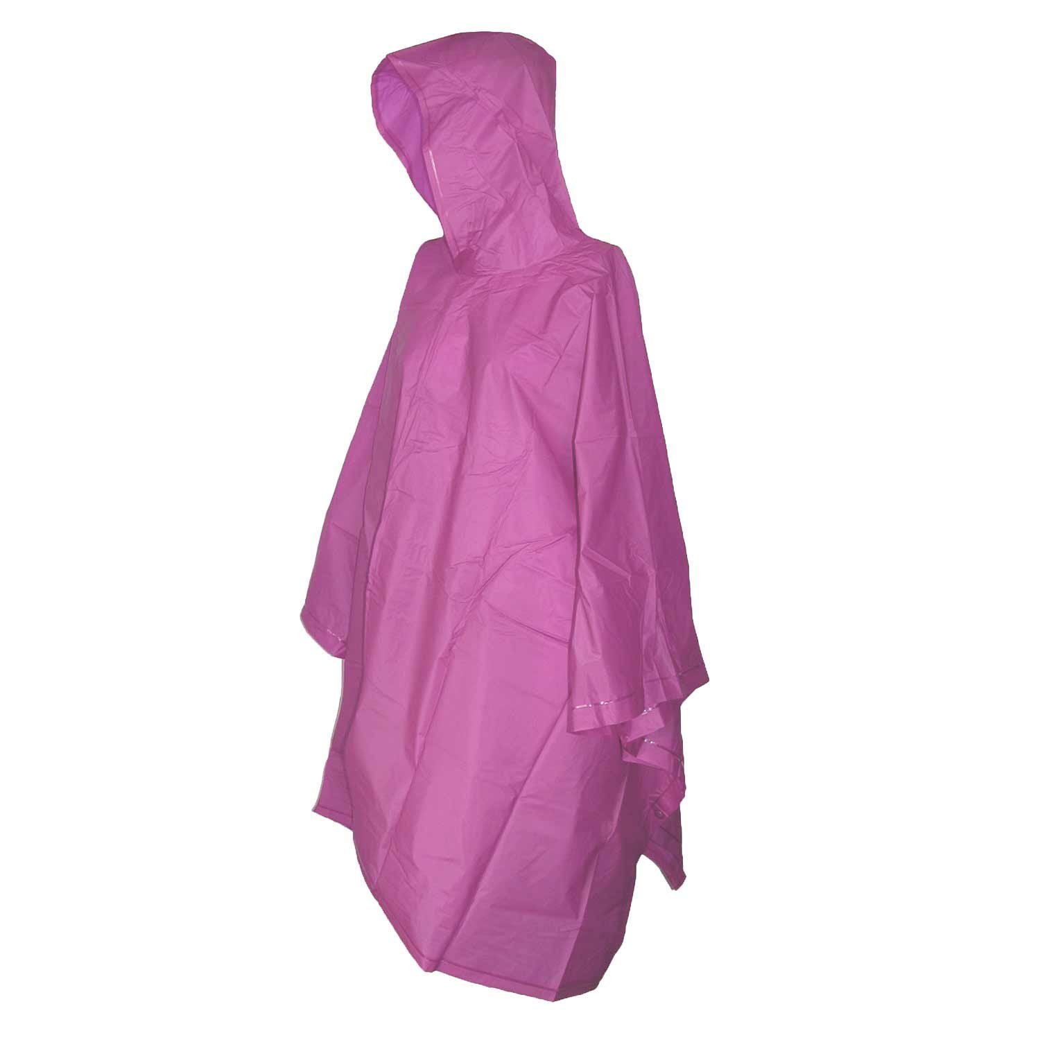 Raines Children's Emergency Poncho with Built In Hood, One Size Fits Most, Pink, 3-pack