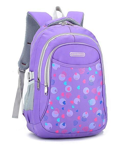 ffb4e343c2ab School Backpacks for Girls Boys School Bags for Elementary School Big  Student Classics Backpack (purple)