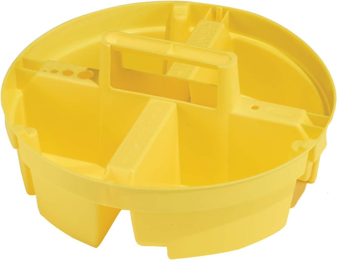 Bucket Boss Bucket Stacker Small Parts Tray in Yellow, 15051