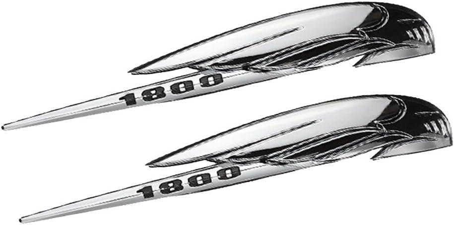 SDENSHI 1 Paire De Moto R/éservoir D 3D Argent Embl/ème Insigne Autocollants pour Honda VTX1800