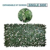Coarbor Artificial Leaf Ivy Faux Expandable Privacy Fence Screen Stretchable Fencing Perfect For Deck Balcony Patio Porch Trellis Outdoor Decor- Single Side Leaves Review