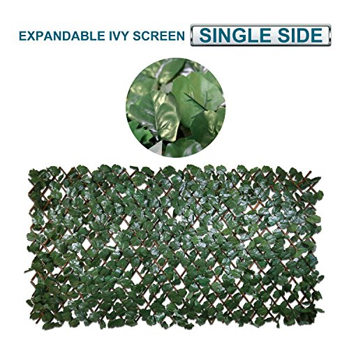 Cheap Coarbor Artificial Leaf Ivy Expandable Privacy Fence Screen Stretchable Fencing Perfect For Deck Balcony Patio Porch Trellis Decor- Single Side Leaves