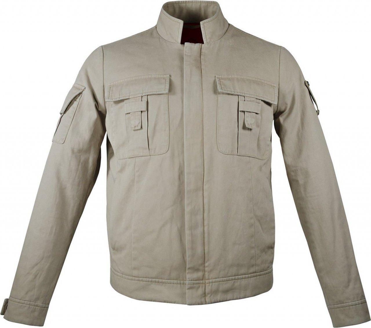 Mens Luke Skywalker Cotton Jacket - Light Summer Jacket | Beige Luke Skywalker Jacket, L