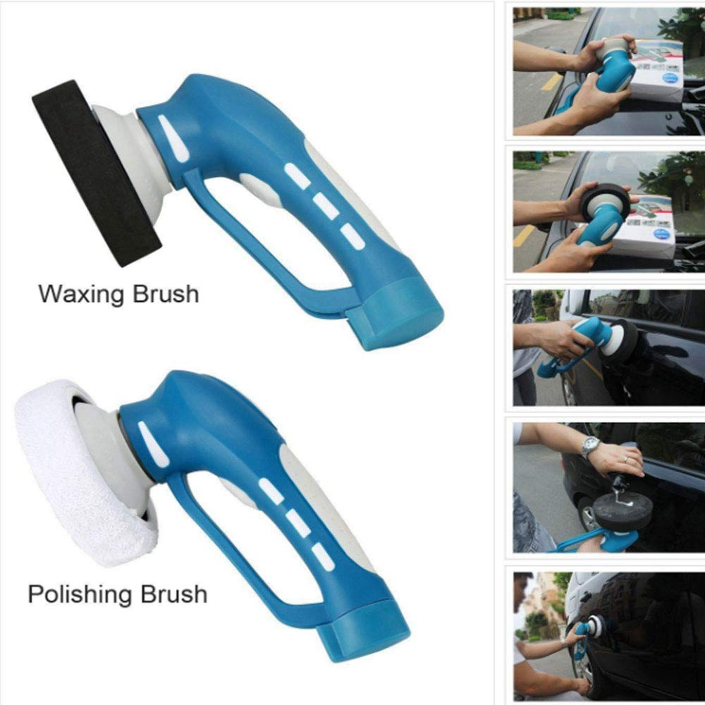 Suitable for Cleaning Wheels. Abs Body Multi-Purpose Plug Ipx7 Waterproof 3 Different Brush Heads Wireless Car Polishing Machine