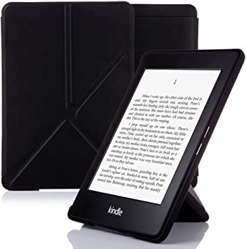 NOUSKE Funda Origami para Kindle Paperwhite de Amazon, Negro ¨®Nix ...
