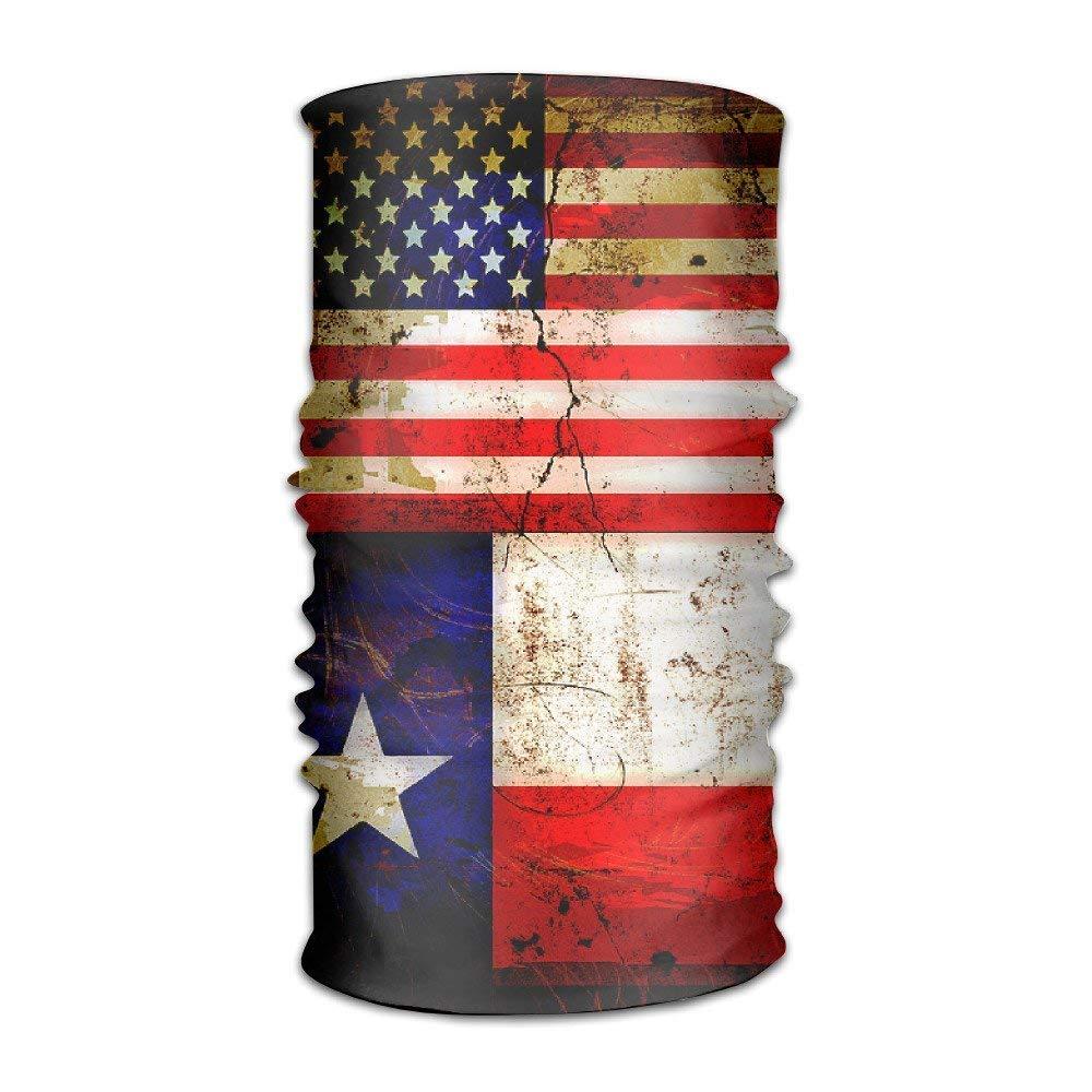 guanggs QGbird 男女兼用 米国テキサス州旗 グランジスタイル ヘッドウェア バンダナ ヘルメットライナー ヘッドラップ スカーフ ワンサイズ ギフトに最適 メンズ レディース   B07JMSW384
