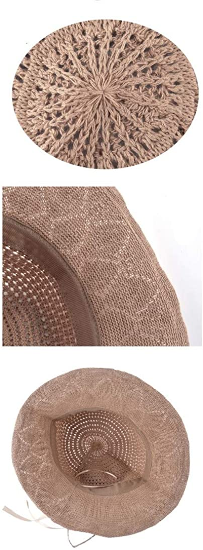 Summer Beach Hat for Women Anti-UV Sun Cap Ladies Sweet Style Bow-Knot Panama Hats Female Foldable Straw