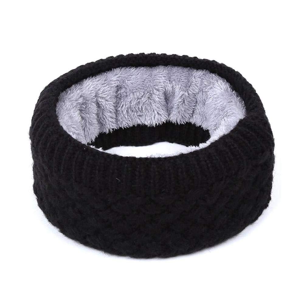 Womdee Scaldacollo invernale Infinity Sciarpa, doppio strato morbido pile foderato in maglia a collo alto scaldacollo Sciarpa antivento per uomo donna Beige