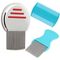 Grooming Tool to Remove Fleas, Mites, Ticks,Nit. Dandruff Flakes,Nit and Lice Treatment,Flea Prevention flea Comb(3pcs)