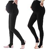 LOVELYBOBO 2 Pack Las mujeres embarazadas maternidad medias pantalones Leggings opaco medias 320 Denier