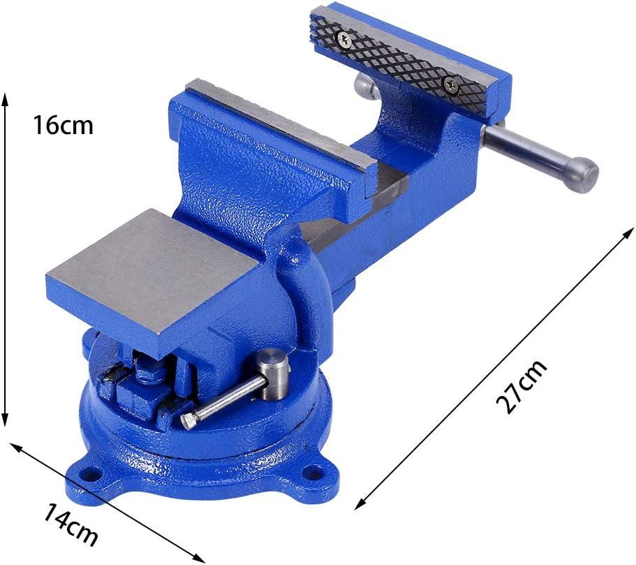 100/mm uso Intenso Tornillo Industrial para taller y banco de trabajo con base giratoria A 360//° para Rosca aserr/ín fresado soldadura Tornillo de banco