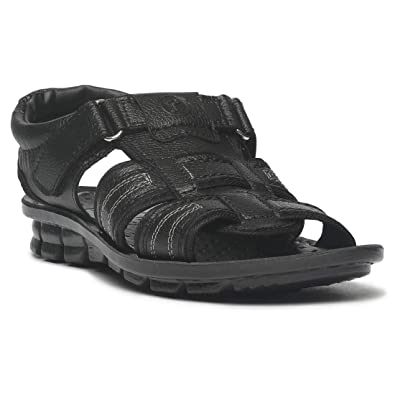 a29ccf417 Image Unavailable. Image not available for. Colour: PARAGON Men Black  Slickers Formal Sandals