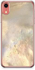 جراب هاتف لاود يونيفيرس لهاتف iPhone XR بتصميم أنيق ذو حواف شفافة لهاتف Phonce جراب هاتف رخامي ذهبي داكن جراب هاتف أسود ذهبي غطاء iPhone XR