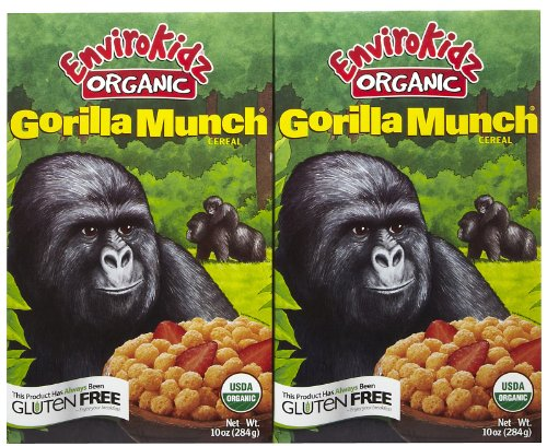 2 Savers Package:Envirokidz Gorilla Munch Gluten Free (12x10 - Envirokidz Gorilla Organic