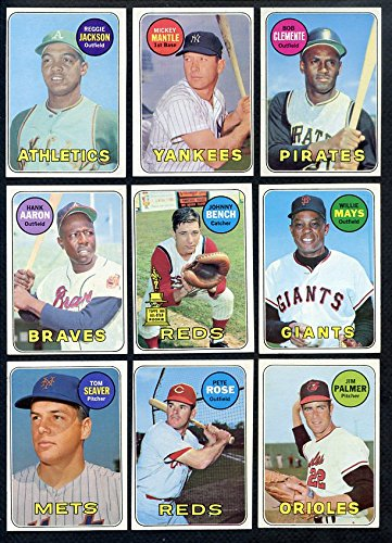1969 Topps Card (1969 Topps Baseball Complete Set w/Ryan SGC 80 Jackson 328099 Kit Young Cards)