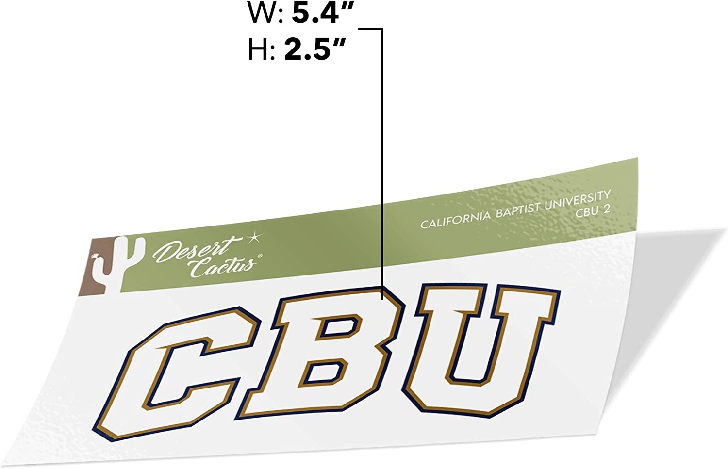 California Baptist University CBU Lancers NCAA Design Sticker Vinyl Decal Laptop Water Bottle Car Scrapbook Sticker - 2