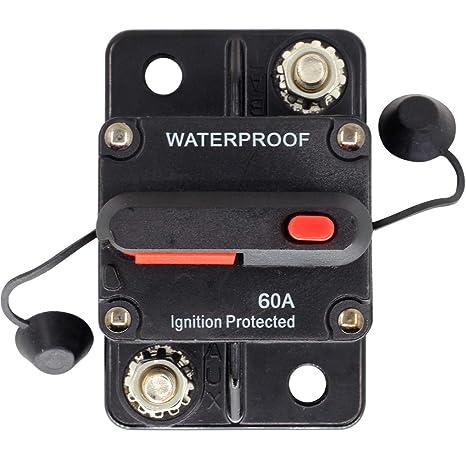 200A Car Boat Stereo Audio Inline Circuit Breaker Kill Switch Manual Reset