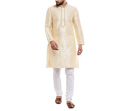 dde924509e Royal Kurta Since 1958, Golden, Designer Kurta & Churidaar Pyjama, Banarsi  Dupion Silk