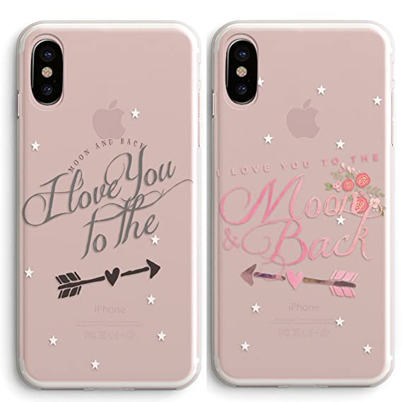 amazon com iphone x case cute boyfriend girlfriend couple matching