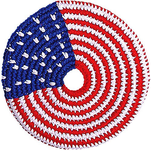 Pocket Disc 'El Grande' Foldable Frisbee - Guatemalan Fair Trade Foldable Flying Disc - Multi-Color Knit Pocket Frisbee - Fabric Frisbees for Kids and Adults - Various Patterns - 8 Inch Frisbee ()