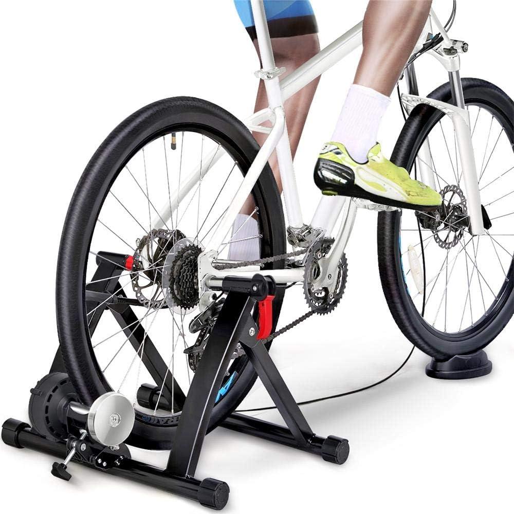 Yaheetech Rodillo Entrenamiento de Bicicleta Rodillo con 6 Niveles de Resistencia por Cable Rodillo para Bici
