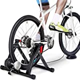 YAHEETECH Magnetic Bike Trainer Stand w/ 6 Speed Level Wire Control Adjuster,Noise Reduction,Quick-Release & Front Wheel…