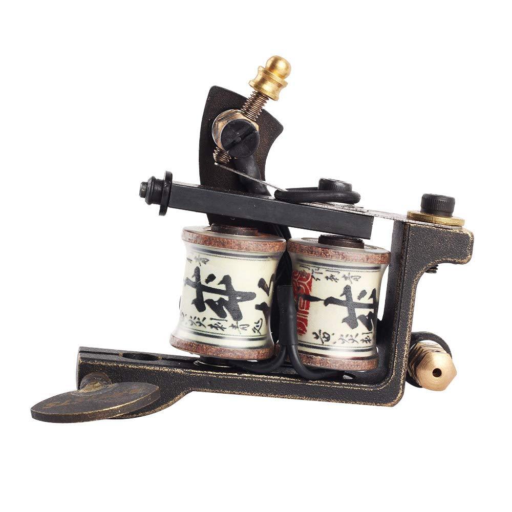 Professional Handmade Tattoo Machine 12-Wrap Coils Iron Cast Frame Tattoo Gun Tattoo Machine For Hook line Interface Tattoo