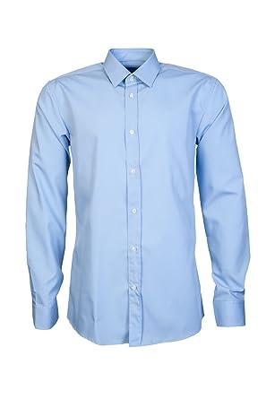 d95f40cb6 Amazon.com: Hugo Boss Mens Smart Shirt Elisha 01 50330360 Size 38 Blue: HUGO  BOSS: Clothing