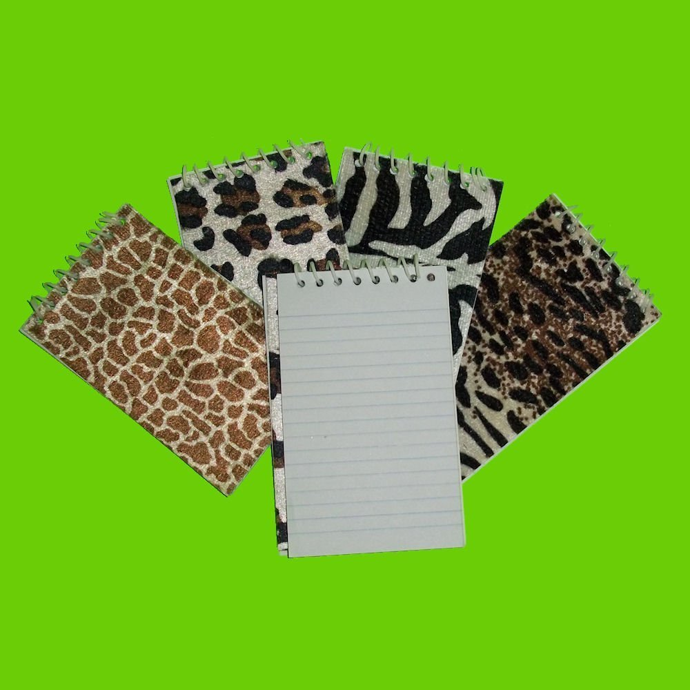 Fun Express Plush Animal Spiral Notepads (24 Pack)