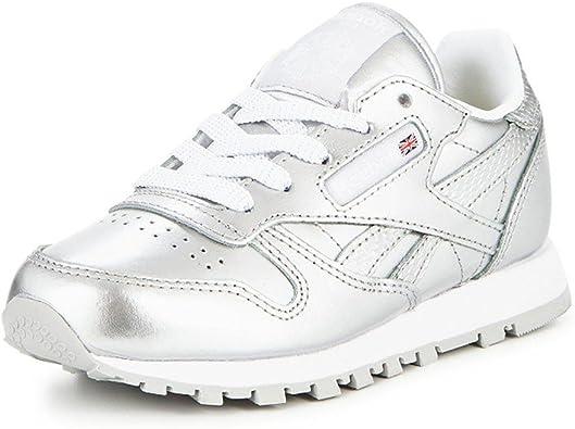 Reebok Classic Leather Metallic, Zapatillas de Running para Niñas: Amazon.es: Zapatos y complementos