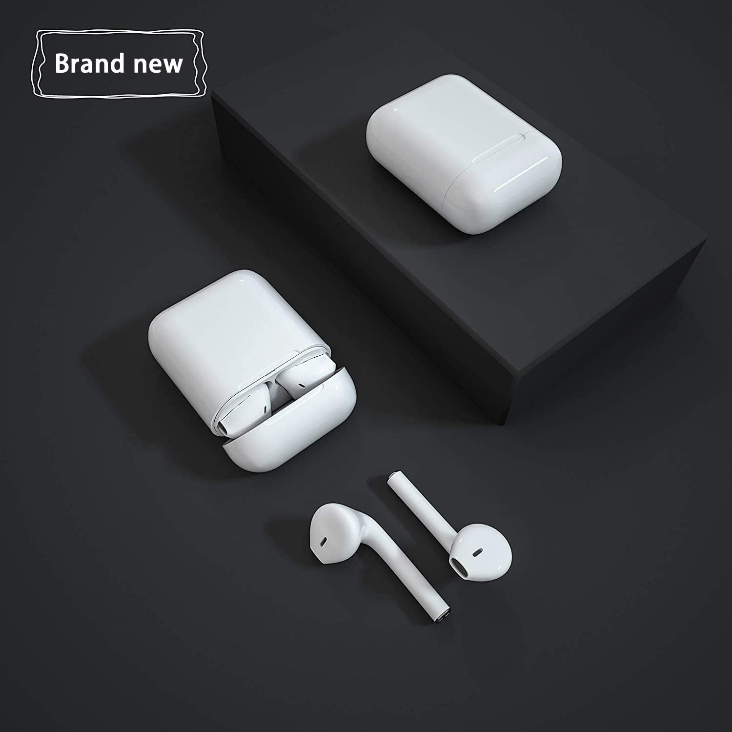 Built-in Microphone and Charging Box Suitable for Airpods//Android//Samsung//iPhone Bluetooth 5.0 Headset Wireless Earbuds in-Ear Sports Headphones 3D High-Definition Stereo Noise Reduction