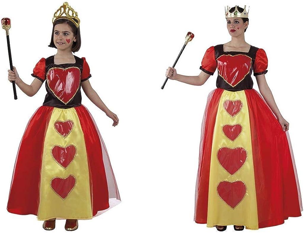 LBA Disfraz Reina de Corazones Española. Corona y Cetro NO ...