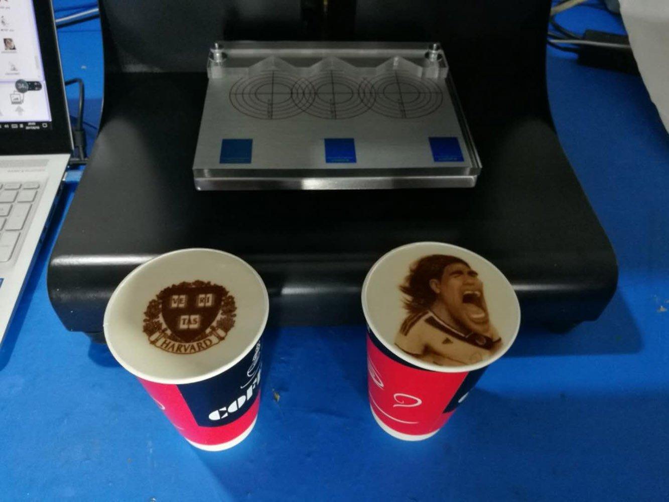 Impresora Mokka 3D Coffee, 2018 Upgrade 4 Tazas Latte Cake Selfie Impresora Artística Full Tinta Comestible automática Printe (Marrón): Amazon.es: Hogar