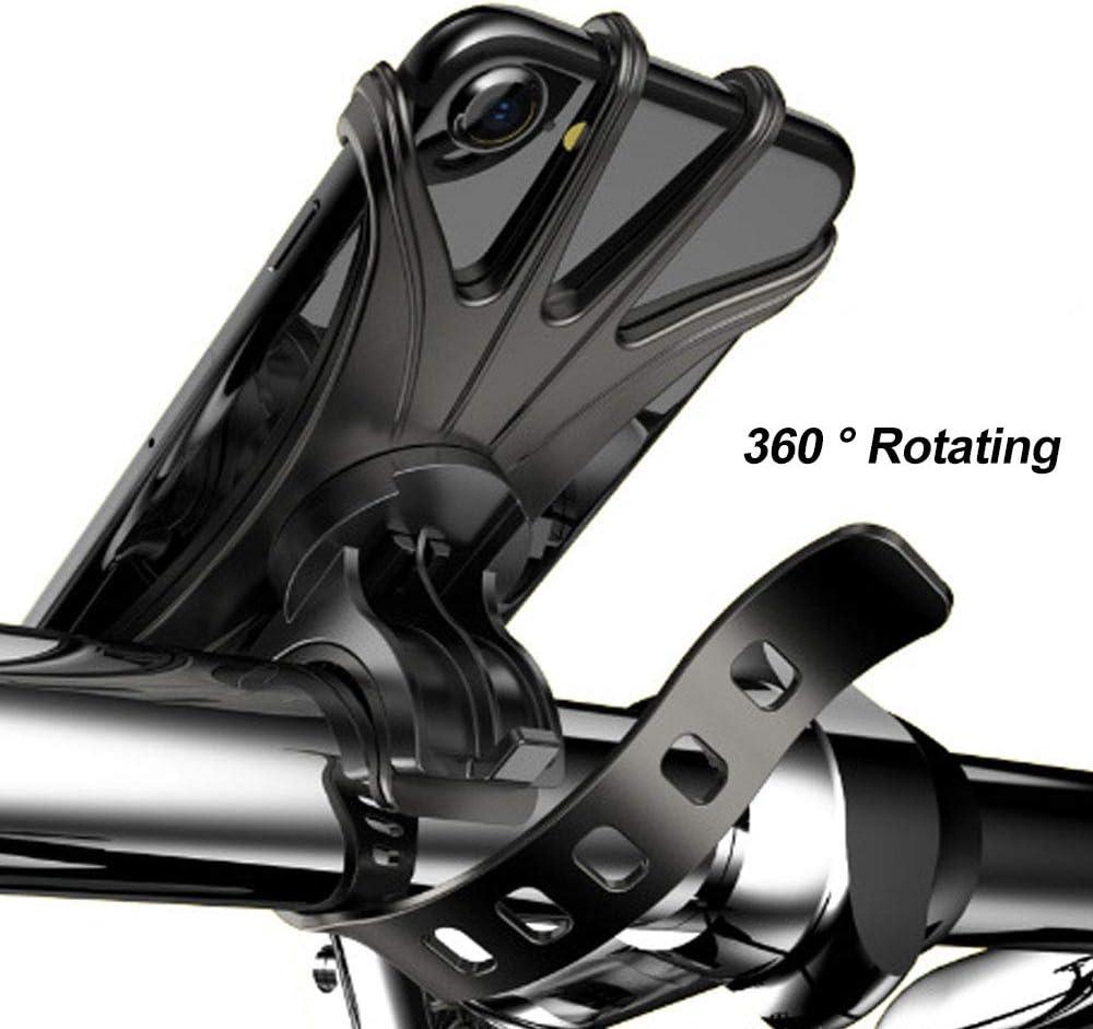 Handyhalterung Fahrrad Silikon Abnehmbare Motorrad 360/° Drehbare Handyhalterung Motorrad Verstellbare Anti-Shake Fahrradhalterung von 4-6,5 Zoll Smartphone f/ür Fahrrad Motorrad