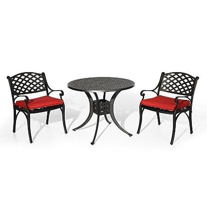 Amazon Com Nuu Garden Outdoor Patio Furniture 3 Piece Powder Coated