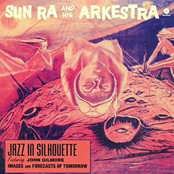 sun ra jazz in silhouette