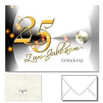 DigitalOase Jubiläumskarten U0026quot;25u0026quot;   Einladungskarten Zum 25.  Jubiläum 1 Klappkarte Incl.